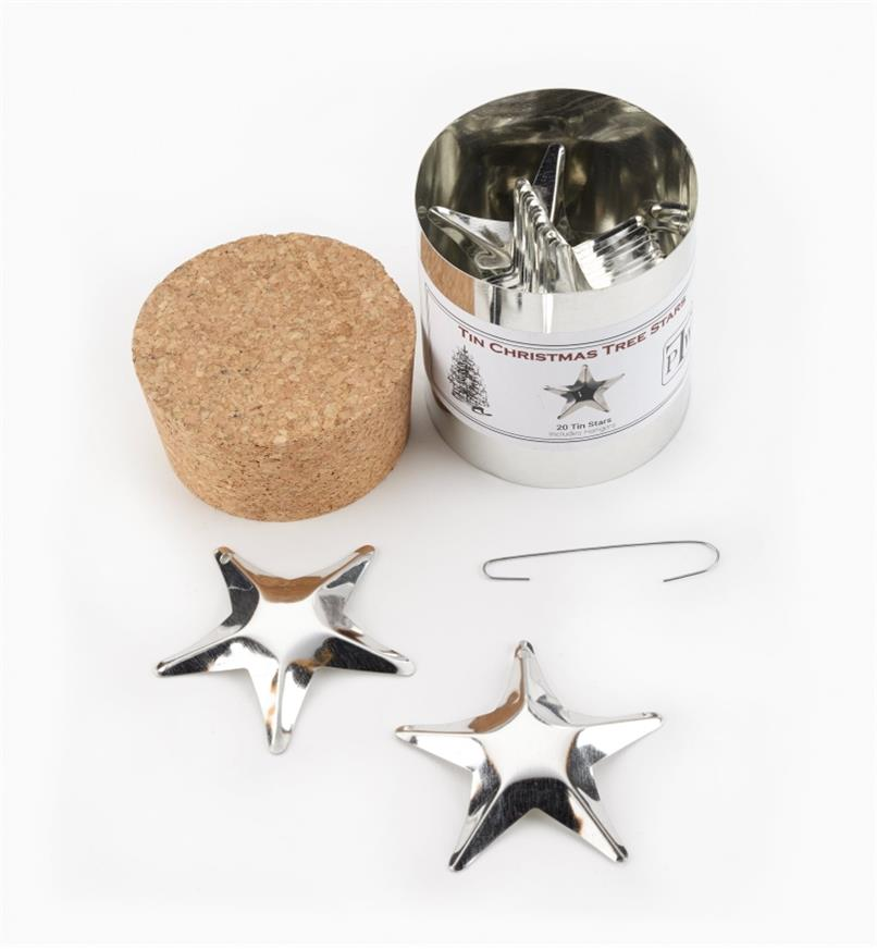 45K1537 - Tin Stars, set of 20