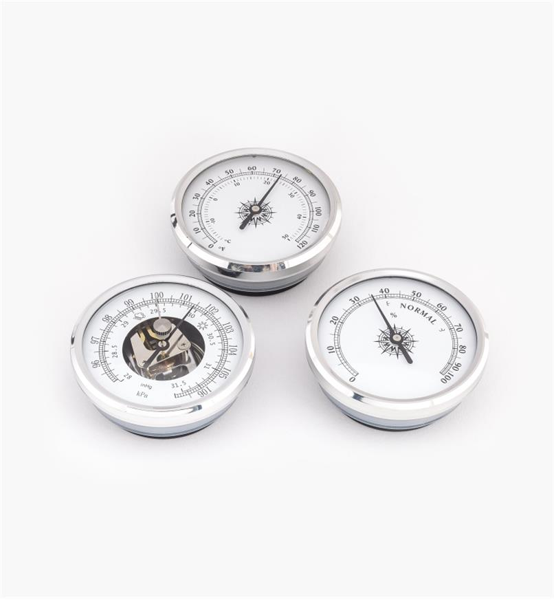 46K7010 - Set of 3 Aluminum Weather Instruments