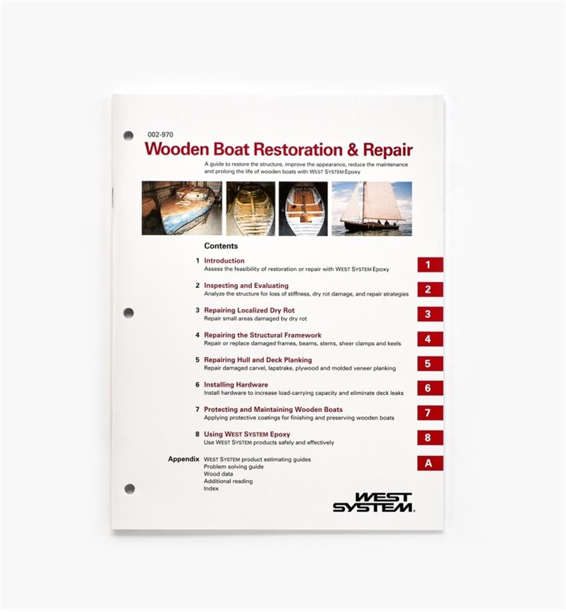 54Z2201 - Brochure Wooden Boat Restoration & Repair – en anglais seulement