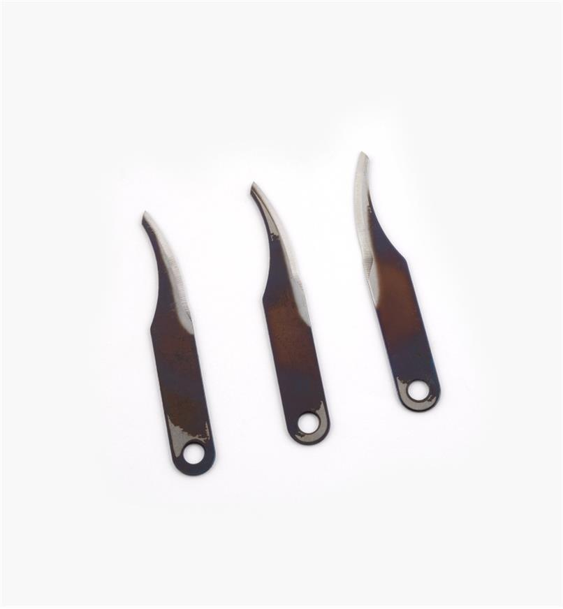 81D0103 - #3 Warren Knife Blades, pkg. of 3