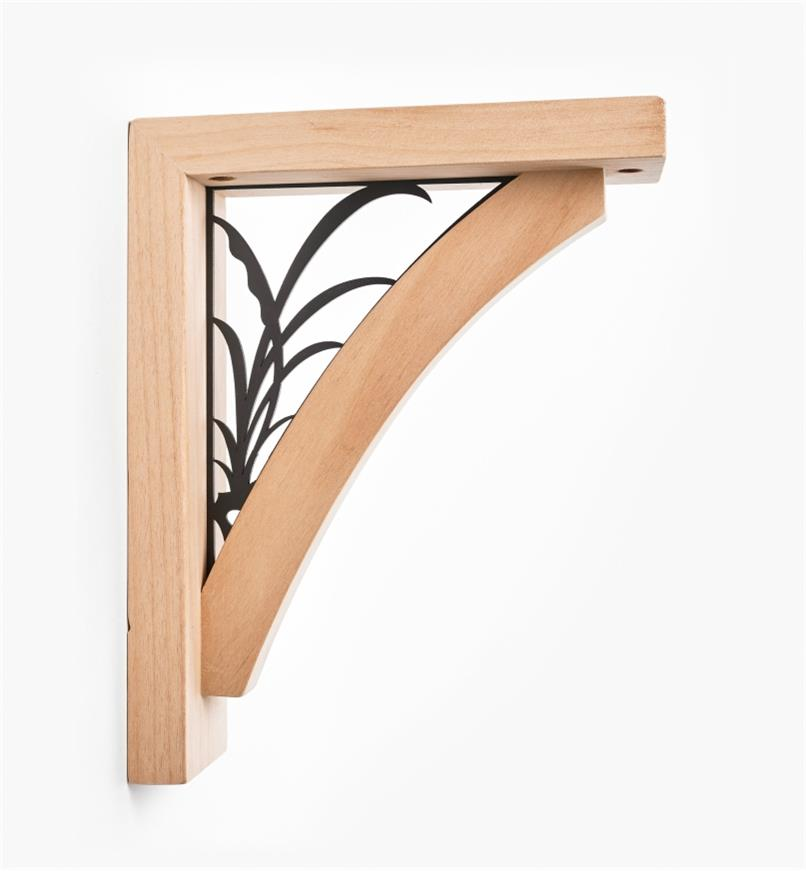 00S0731 - Leaf Wooden Shelf Bracket
