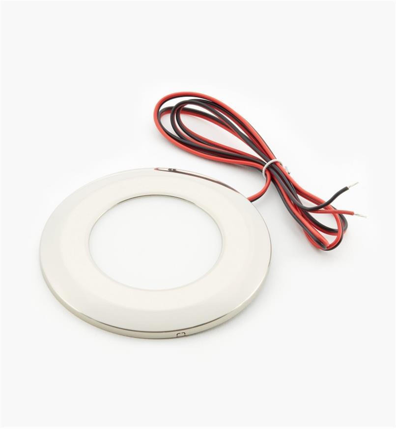 00U4420C - Luminaire ultramince à DEL, blancnaturel, finichromé brossé