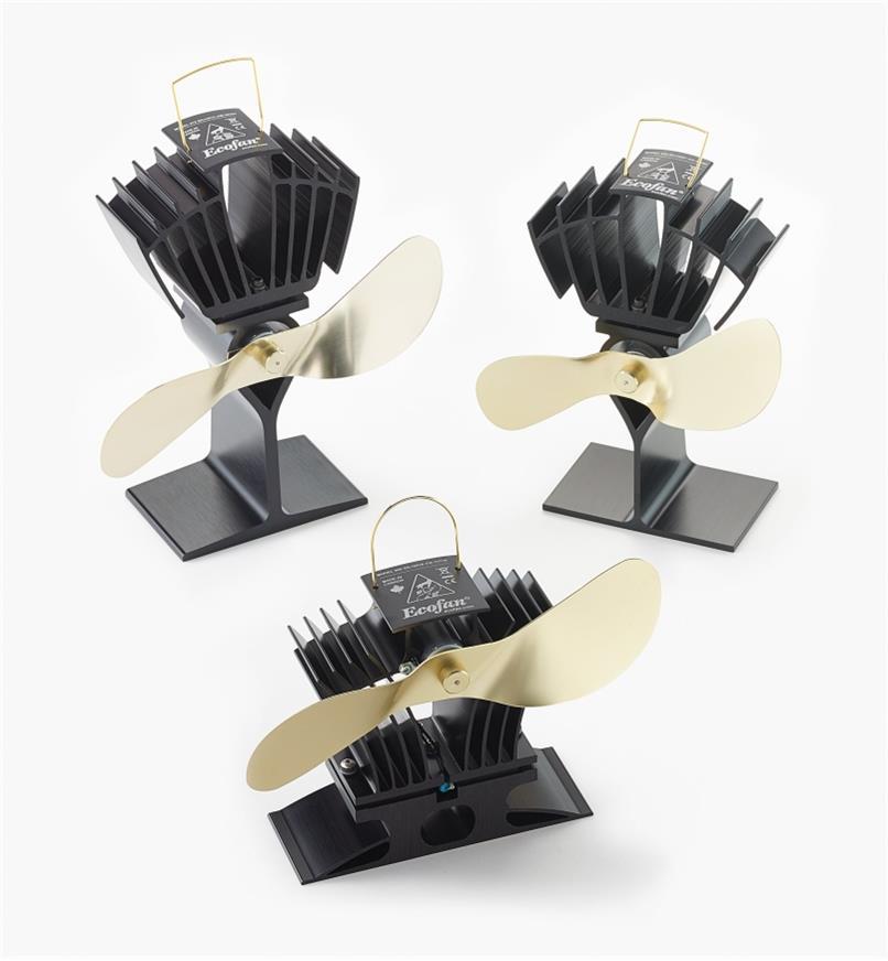 Trois modèles de ventilateurs Ecofan