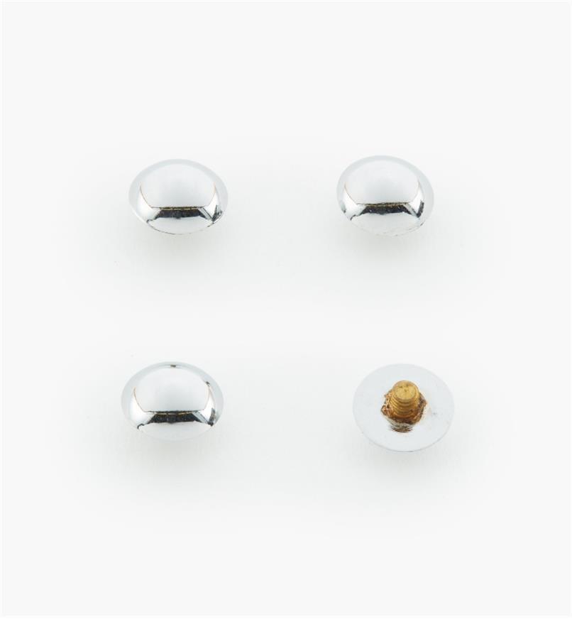"00K4540 - 3/8"" Polished Chrome Dome Cap #1, pkg. of 4"