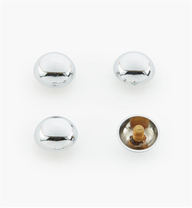 "00K4541 - 1/2"" Polished Chrome Dome Cap #2, pkg. of 4"