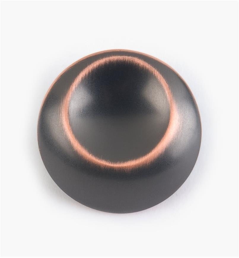 "03W2282 - Belwith Oil-Rubbed Bronze Highlight Finish 1 1/4"" Off-Center Knob, each"
