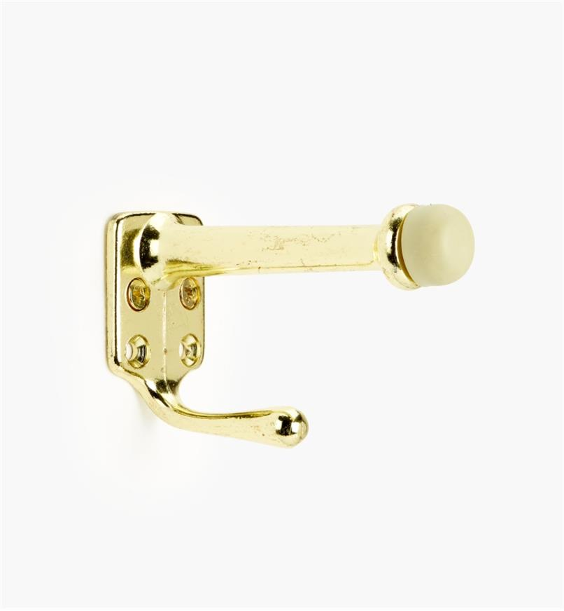 99X0143 - Belwith Polished Brass  Doorstop with Hook, ea.