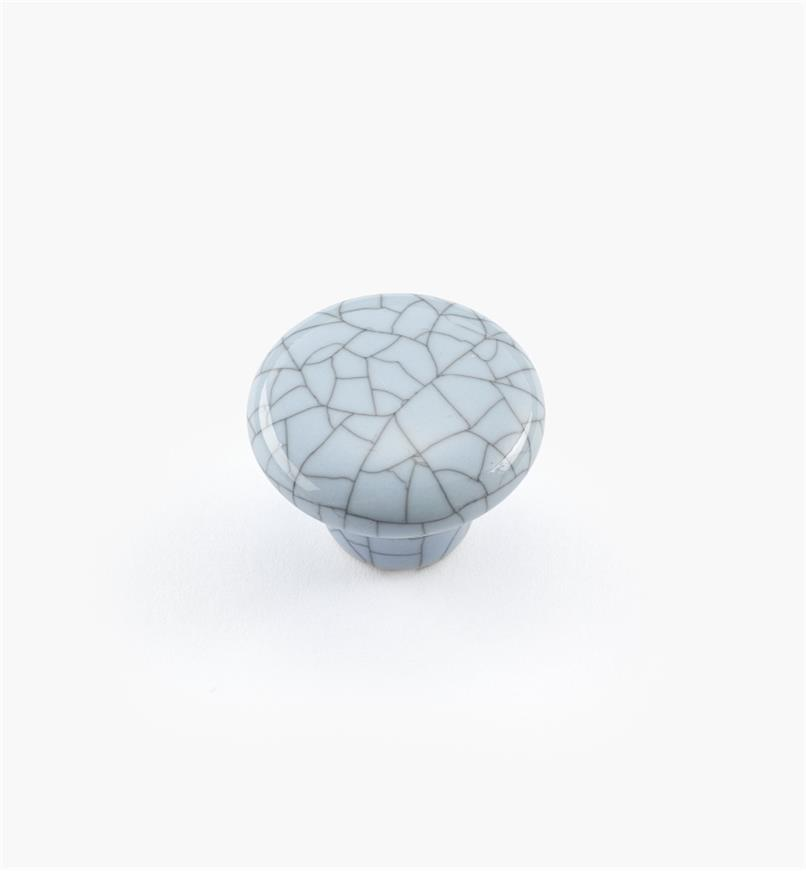 "00W5211 - 1"" x 3/4"" Blue Crackle Knob"