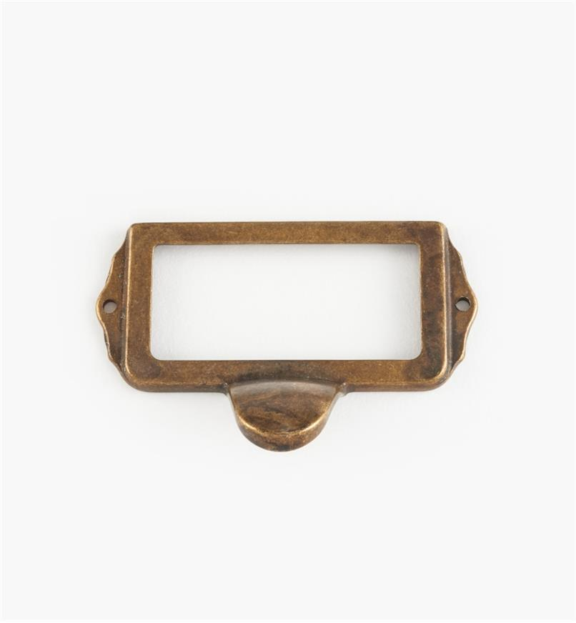 01A5751 - Old Brass Card Frame/Pull
