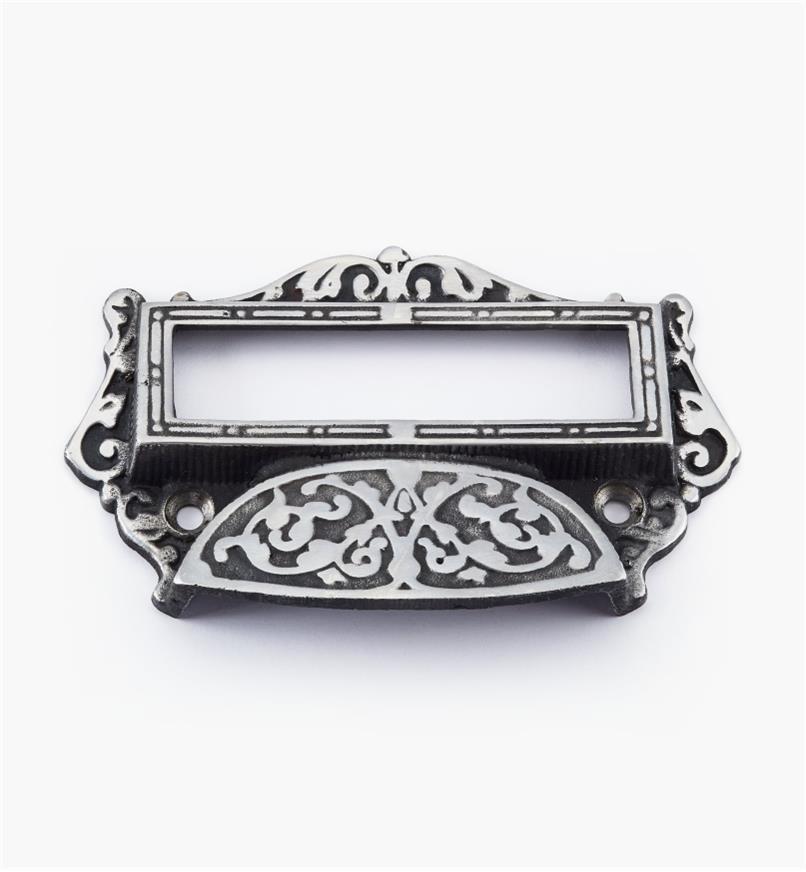 01W6101 - Poignée à porte-étiquette en acier moulé