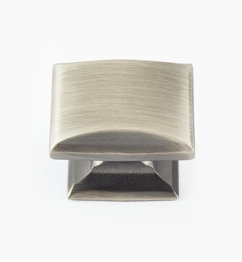 "02A1930 - 1 1/4"" x 1"" Antique Silver Candler Knob"