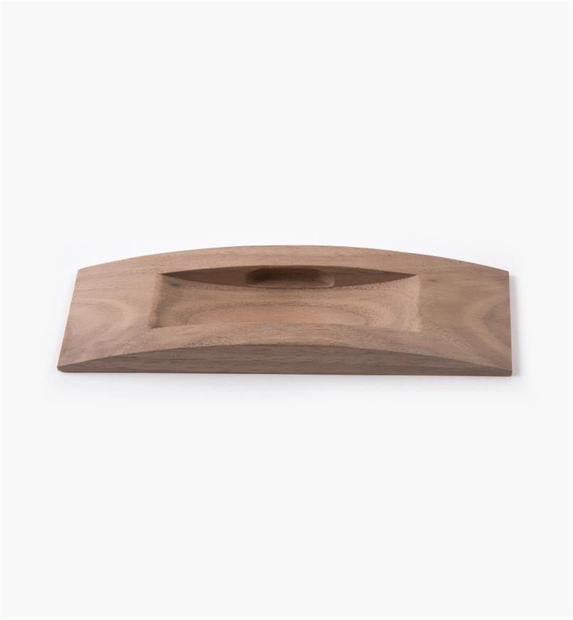 02G2020 - Poignée danoise en applique en noyer, 160mm x 45mm