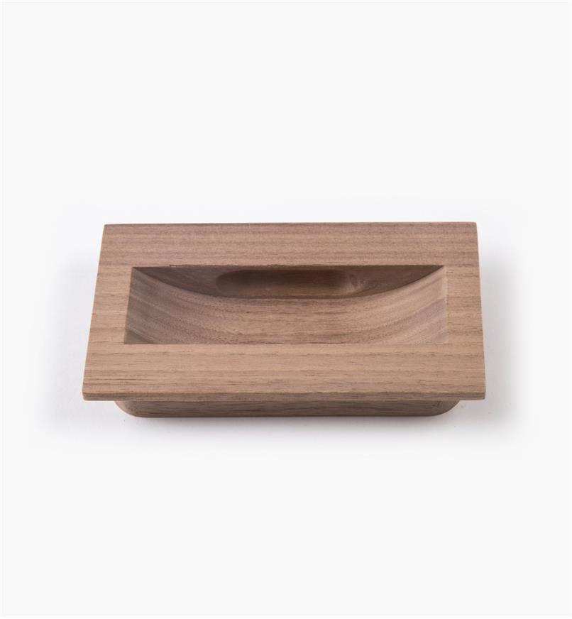02G2032 - 120mm x 70mm Danish Walnut Inset Recess Pull
