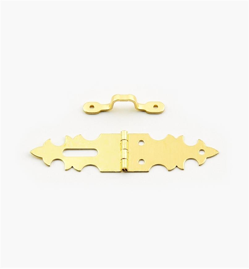 00D8056 - Narrow Double Hinge/Hasp & Staple, ea.