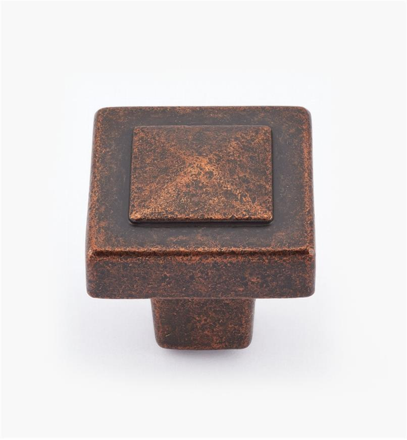 02A0976 - Forgings Rich Bronze Pyramid Knob