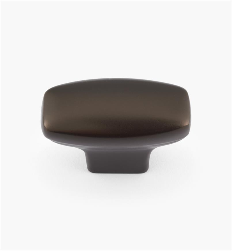 "02W4086 - 1"" x 1 7/16"" Oil-Rubbed Bronze Rectangular Knob"