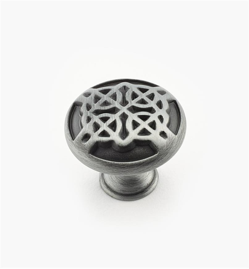 "02W1722 - 1 3/16"" x 1"" Weathered Pewter Knob"