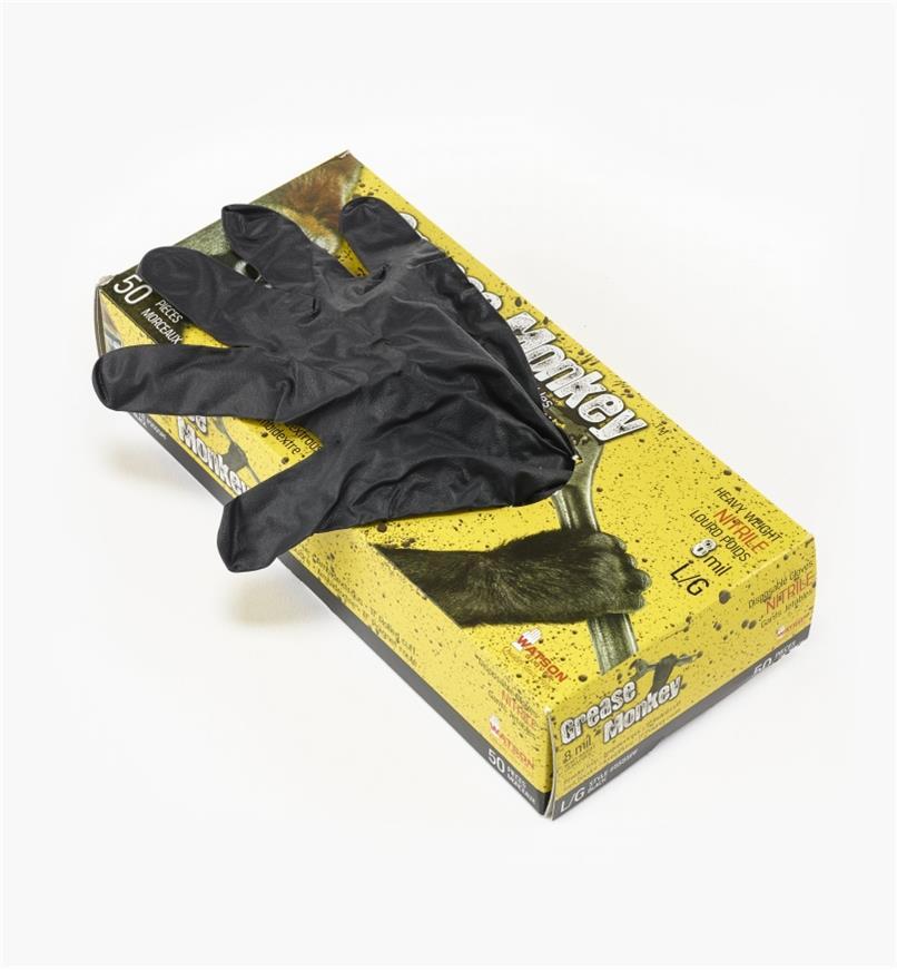 86K4312 - Grease Monkey Large Nitrile Gloves (50)