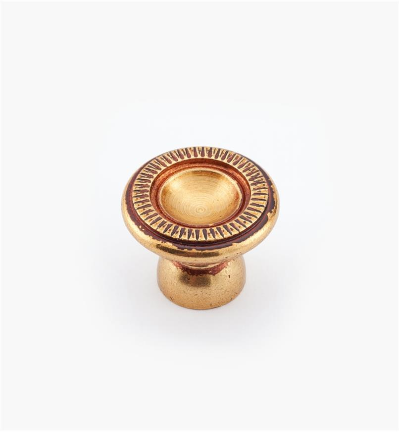 01A5881 - 20mm x 16mm Antique Brass Knob