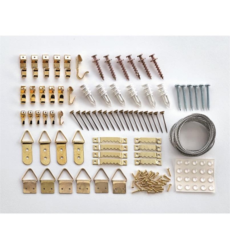 00F1770 - Trousse d'accrochage de cadres de 129 pièces