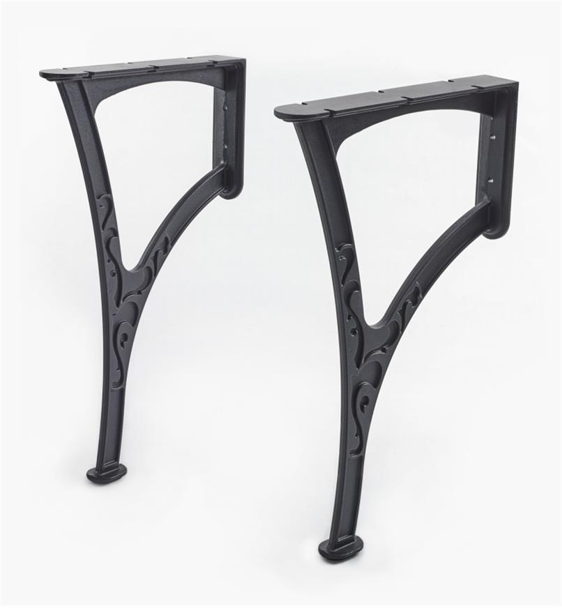 05K4901 - Wall-Mount Bench Legs, pr.