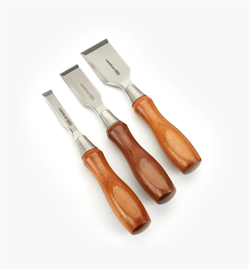 "05S2640 - Set of 3 Veritas PM-V11 Butt Chisels (1/2"", 1"", 1 1/2"")"
