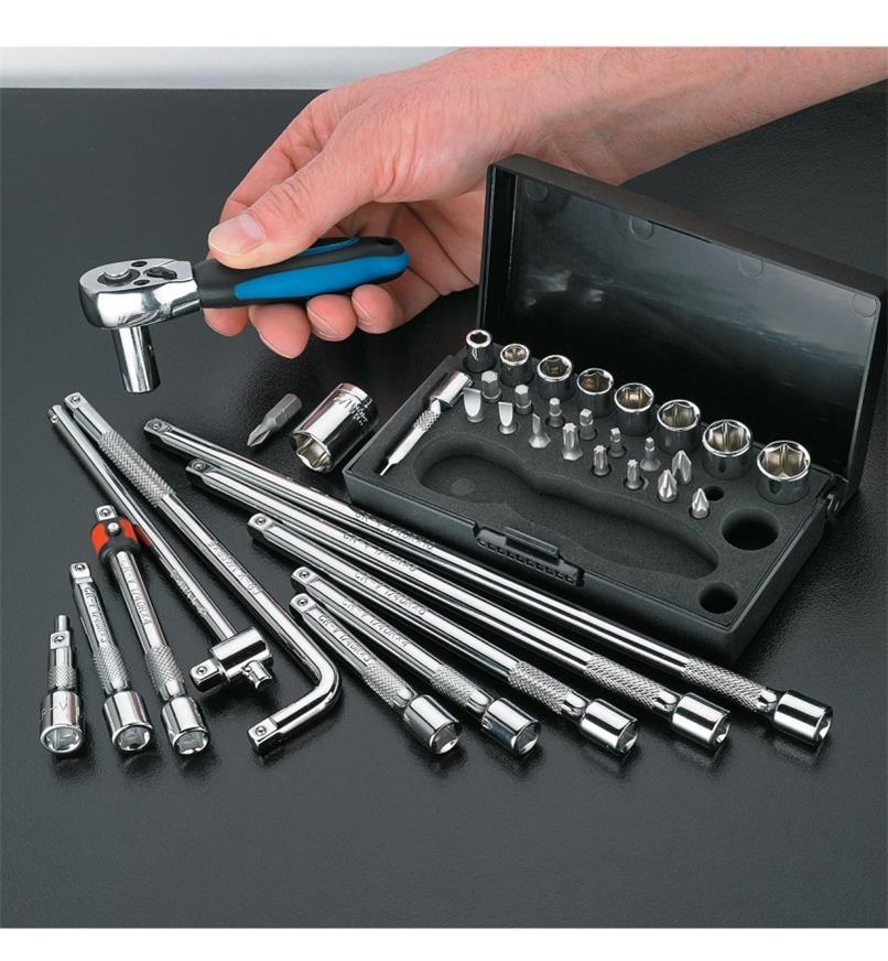17K0156 - 38-pc Socket Wrench Extension Homeowner's Kit