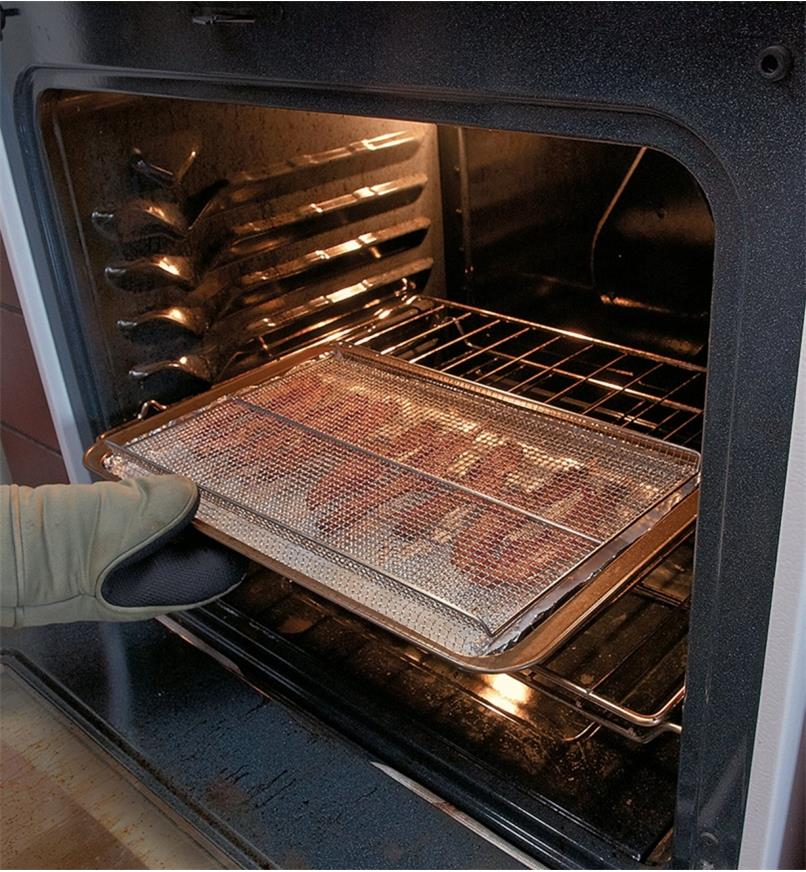 Cooking bacon in an oven using a Cookie/Bacon Rack
