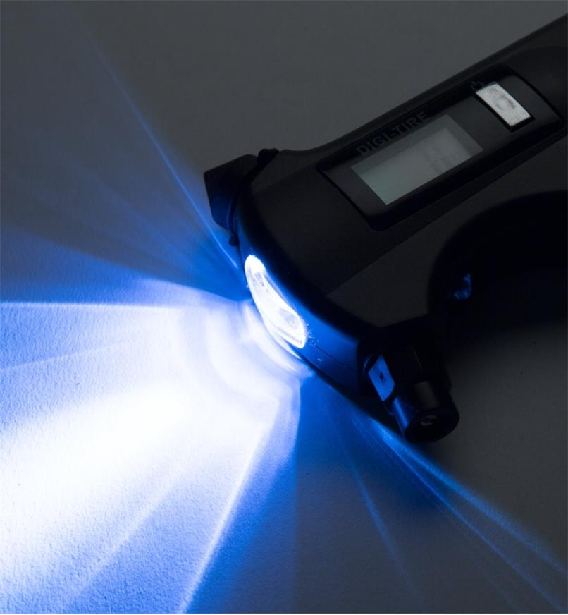 0 to 150 psi gauge LED flashlight