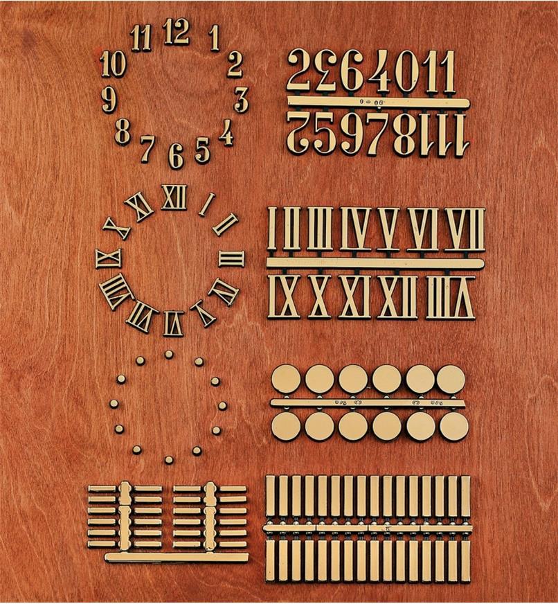 Adhesive-Backed Numerals, Dots & Bars