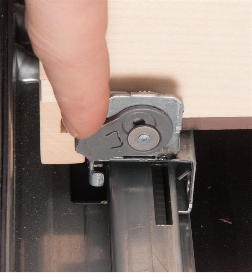 Close-up of tilt adjustment mechanism