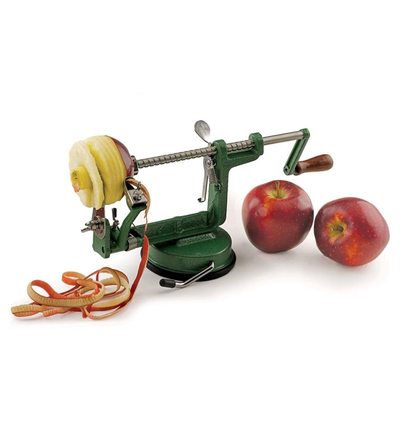 Apple Peeler peeling and slicing an apple