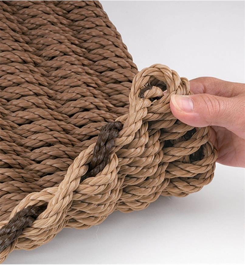 Close-up of woven rope in the Cape Cod Doormat