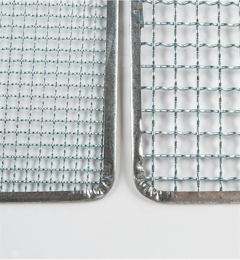 "Close-up of 6mm (1/4"") mesh and 12mm (1/2"") mesh"