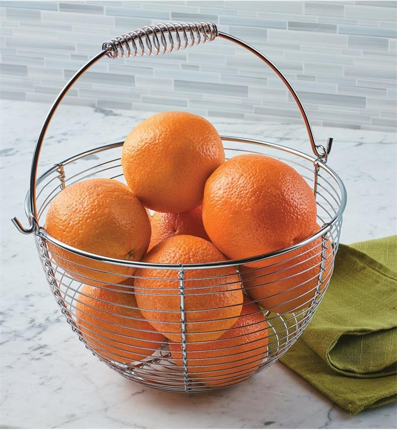 Small Gardener's Wash Basket filled with oranges