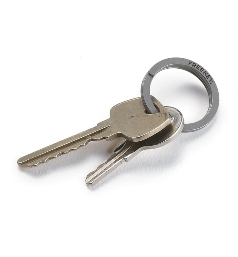 FreeKey key ring with keys attached