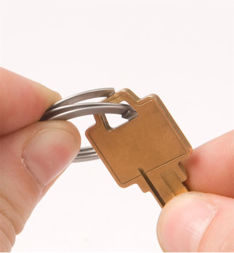 FreeKey key ring with key attached