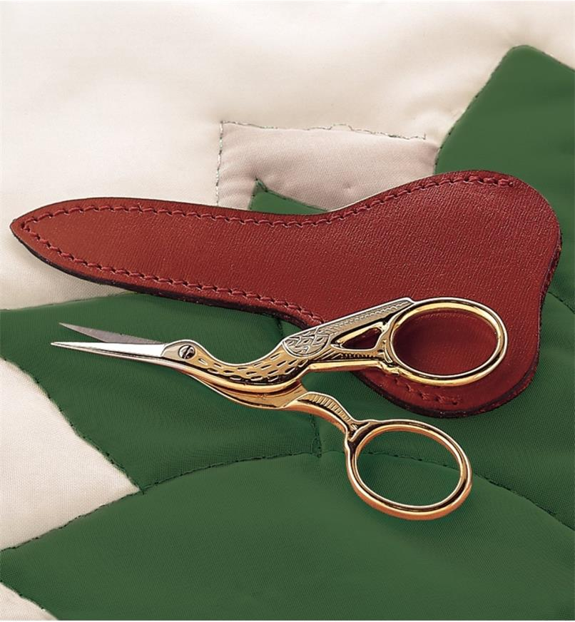 52K0112 - Stork Scissors with Sheath