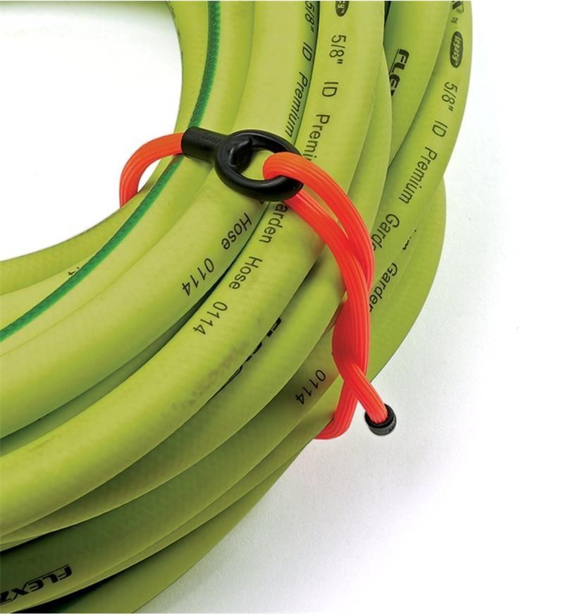 68K0700 - Attache flexible de 12po et ancrage Gear Tie, orange, l'unité
