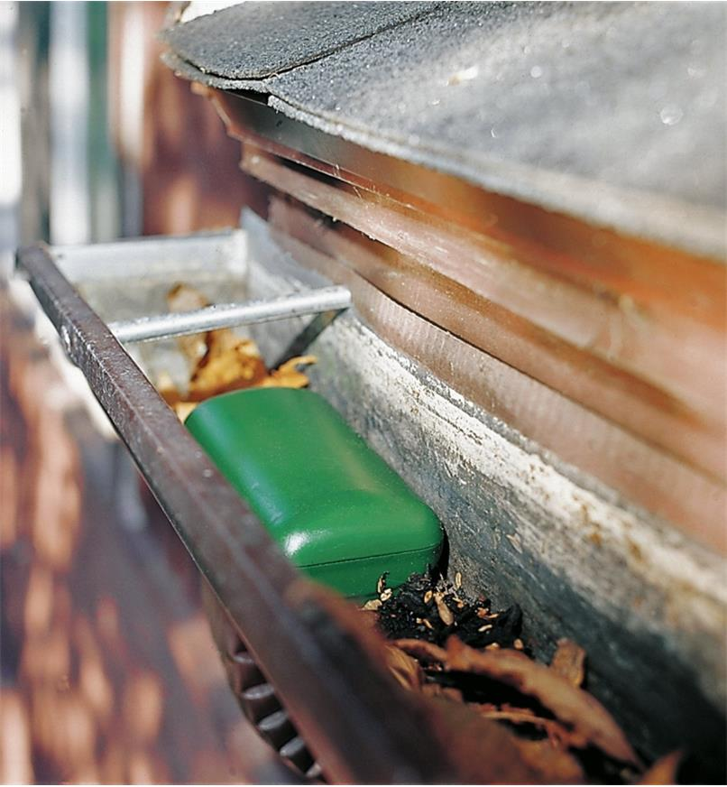 Gutter Siphon installed in gutter