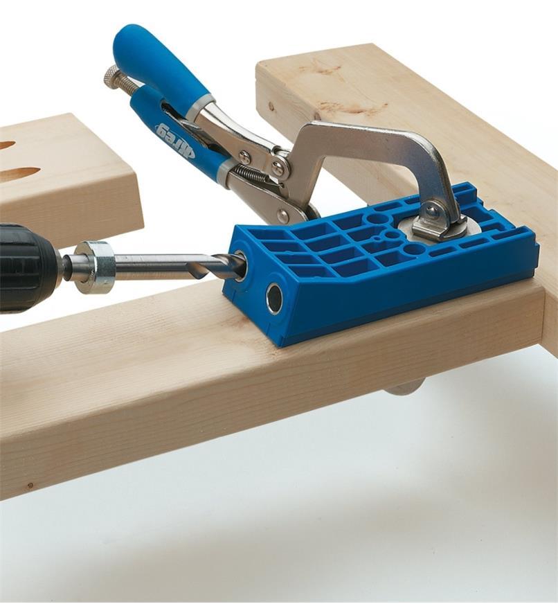 Gabarit de perçage à angle robuste modèle KJHD Kreg