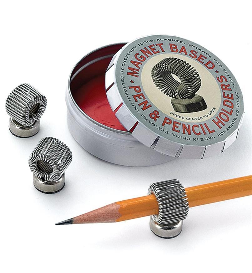 88K7897 - Magnet-Based Pen & Pencil Holders, tin of 3