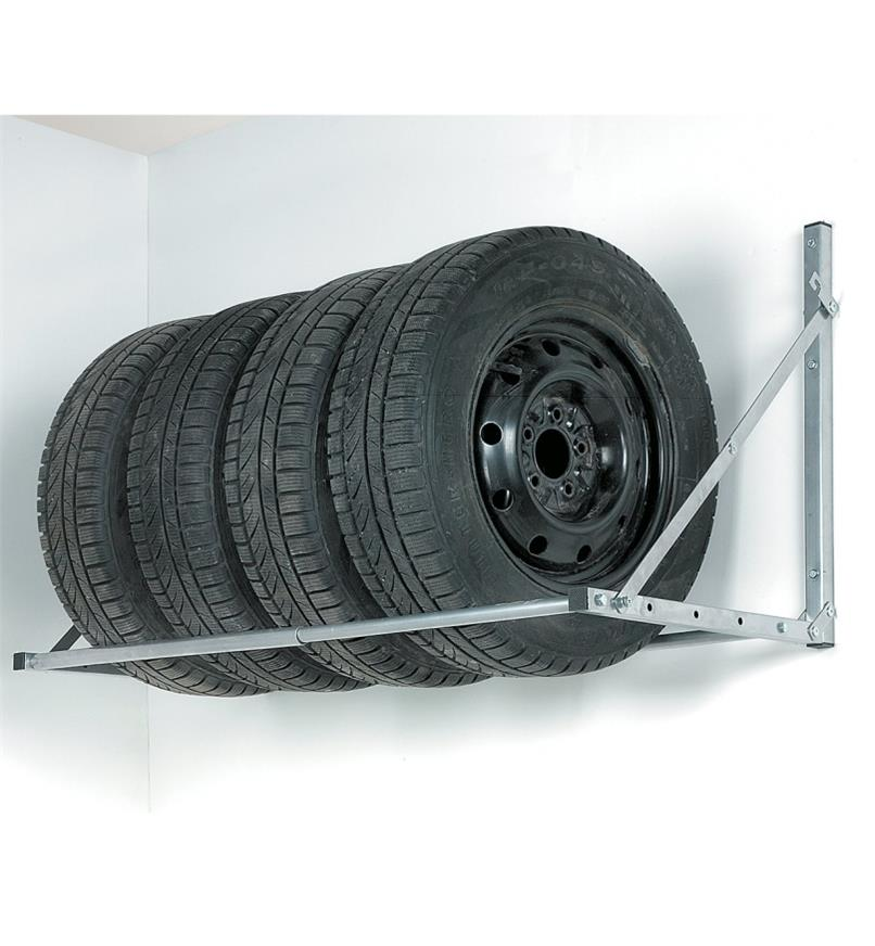 Standard Hyloft Tire Rack holding a set of four tires
