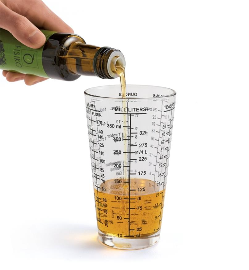 Pouring oil into the Measuring Glass