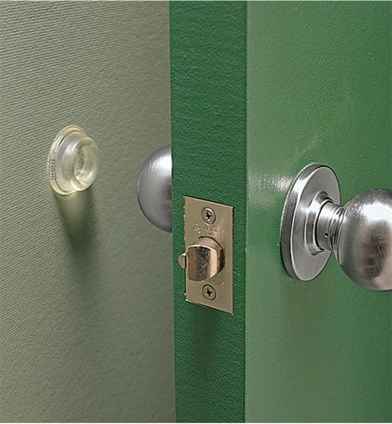 00S2010 - Butée de porte murale de 46mm x 16mm, l'unité