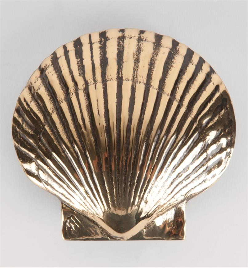 00W0810 - Polished Brass Bay Scallop Door Knocker