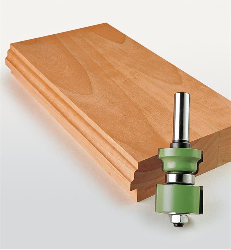 16J6951 - Mèche à couteaux interchangeables pour porte et fenêtre à carreaux, 13/8 po x 1 3/4 po x 1/2 po