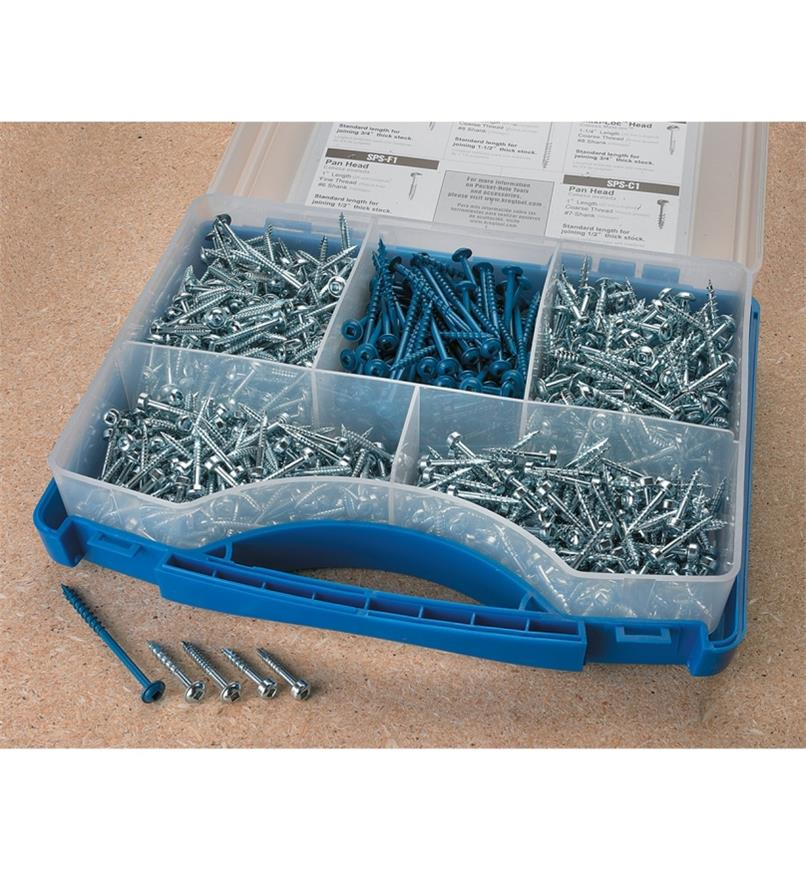 25K6059 - Kreg Pocket-Hole Screw Kit, 675 pcs.