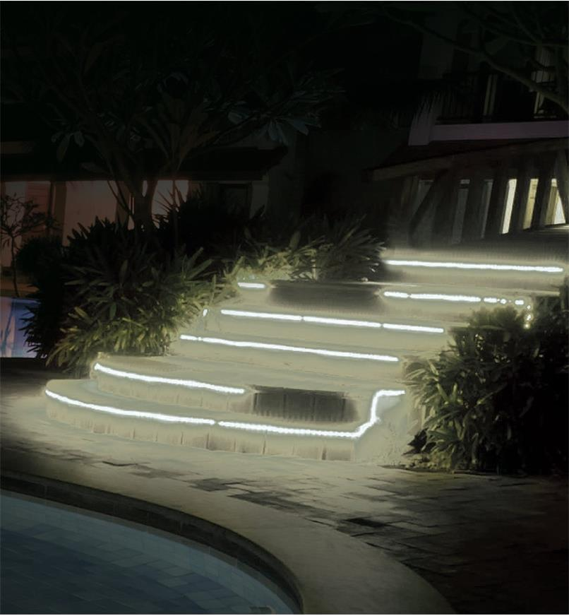 Outdoor/Wet Location White LED Tape Lights