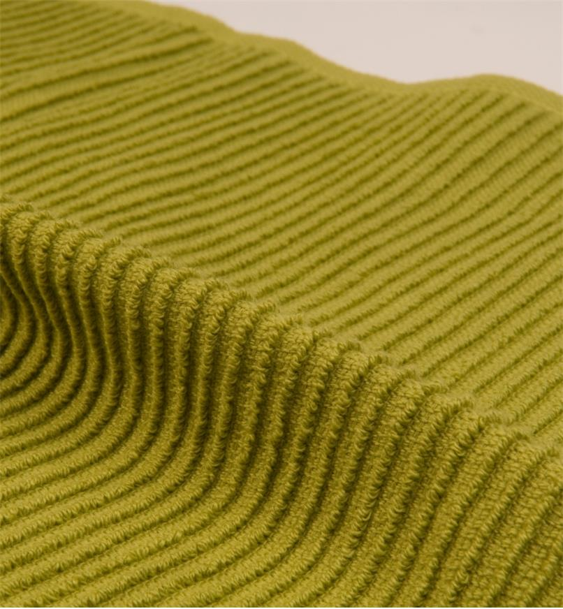Close-up of ribbed weave of ripple towels